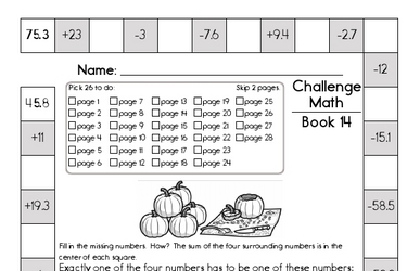 Weekly Math Worksheets for December 7