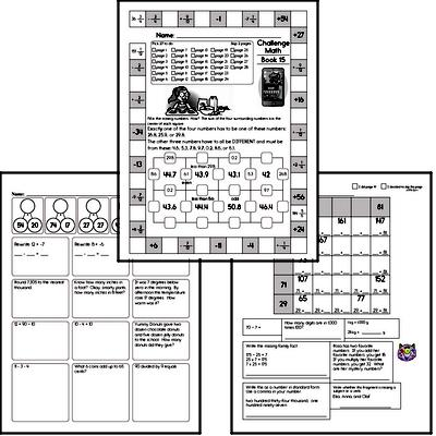 Weekly Math Worksheets for December 14