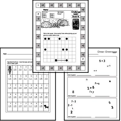 Weekly Math Worksheets for December 16