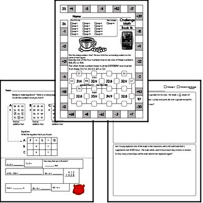 Weekly Math Worksheets for December 21