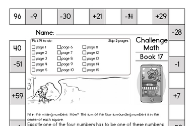 Weekly Math Worksheets for December 28