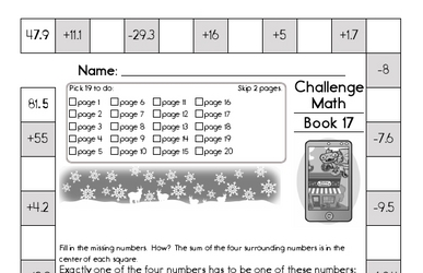 Weekly Math Worksheets for December 23