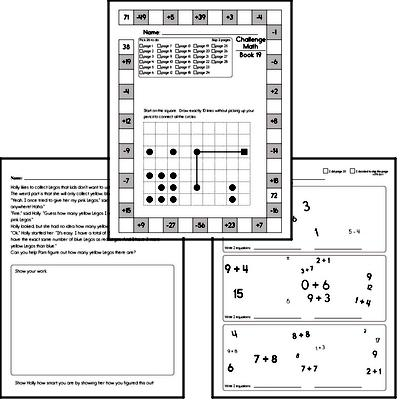 Weekly Math Worksheets for January 6