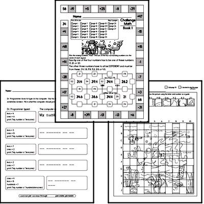 Weekly Math Worksheets for Fourth Graders