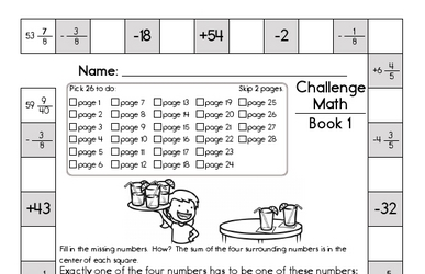 Weekly Math Worksheets for September 2