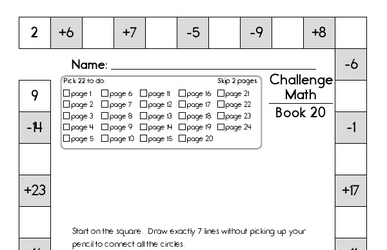 Weekly Math Worksheets for January 13