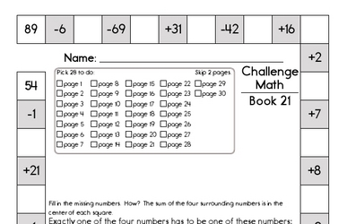 Weekly Math Worksheets for January 20