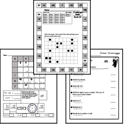 Weekly Math Worksheets for February 8