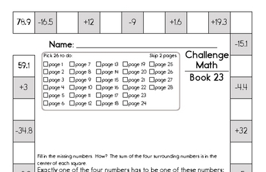 Weekly Math Worksheets for February 7