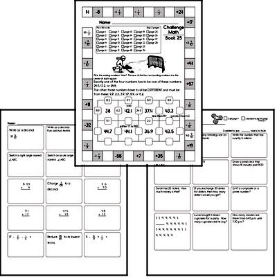 Weekly Math Worksheets for February 22
