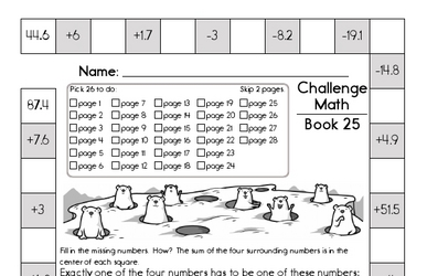 Weekly Math Worksheets for February 21