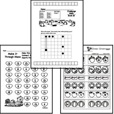 Weekly Math Worksheets for February 24