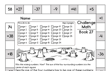Weekly Math Worksheets for March 2
