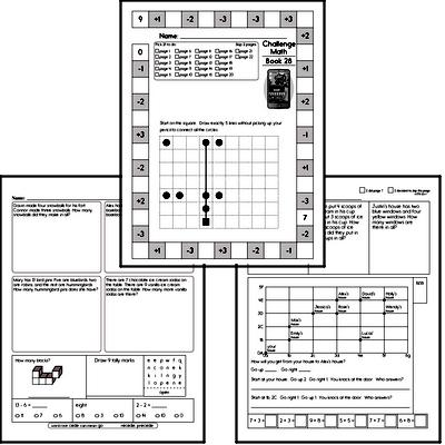 Weekly Math Worksheets for March 9