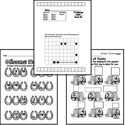 Weekly Math Worksheets for March 8