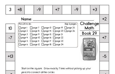 Weekly Math Worksheets for March 21