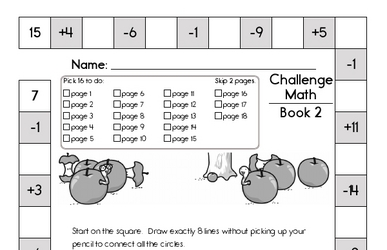 Weekly Math Worksheets for September 13