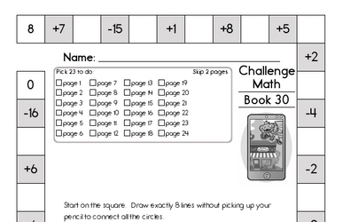 Weekly Math Worksheets for April 1