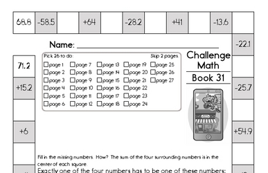 Weekly Math Worksheets for April 4