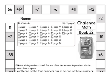 Weekly Math Worksheets for April 11
