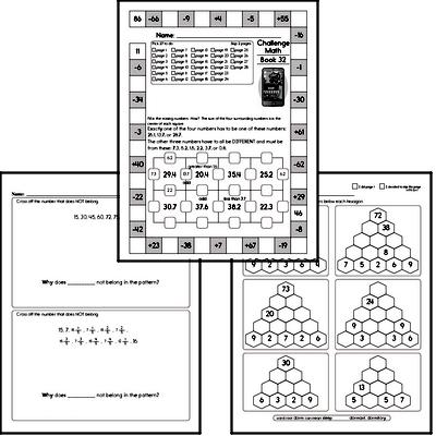 Weekly Math Worksheets for April 6