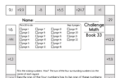 Weekly Math Worksheets for April 13