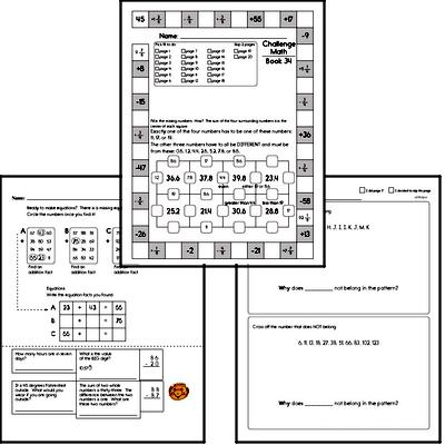 Weekly Math Worksheets for April 25