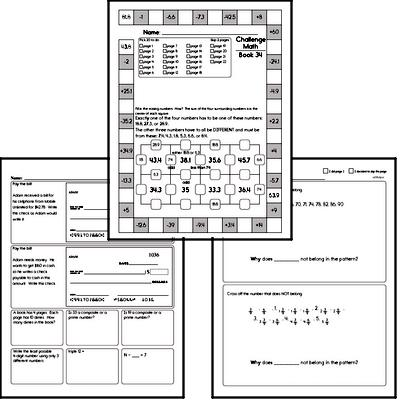 Weekly Math Workbook #34