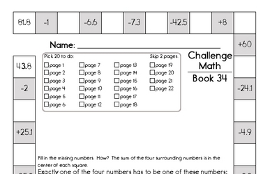 Weekly Math Worksheets for April 20