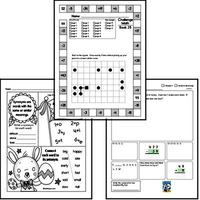 Weekly Math Worksheets for May 3
