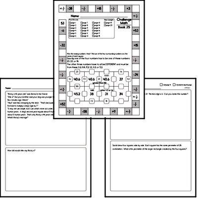Weekly Math Workbook #35