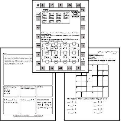 Weekly Math Workbook #36