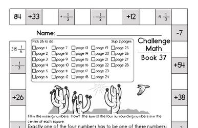 Weekly Math Worksheets for May 11