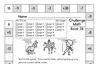 This Week's Math Review Book for Second Graders - Updated Each Week