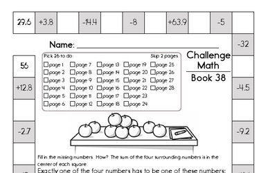 Weekly Math Worksheets for May 18