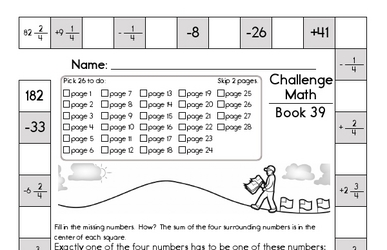 Weekly Math Worksheets for May 25