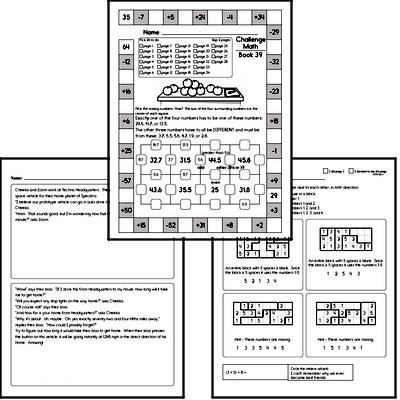 Weekly Math Workbook #39