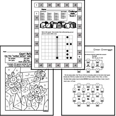 Weekly Math Worksheets for September 16