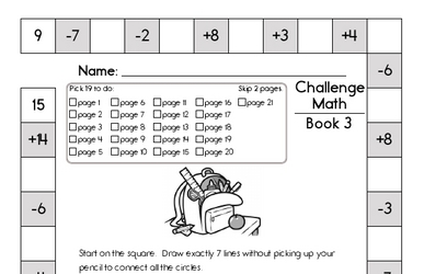 Weekly Math Worksheets for September 20