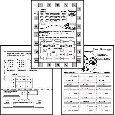 Weekly Math Workbook #40