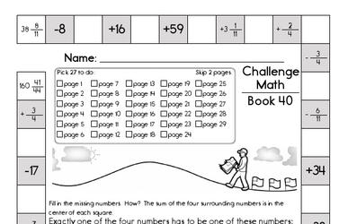Next Week's Math Workbook