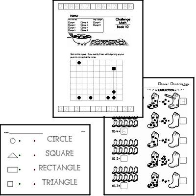 Weekly Math Worksheets for June 1