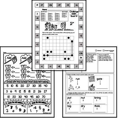 Print This Week's Second Grade Math Book (new book each week)