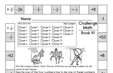 Weekly Math Worksheets for June 13