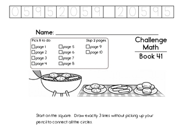 Weekly Math Worksheets for June 8