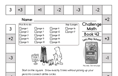 Weekly Math Worksheets for June 15