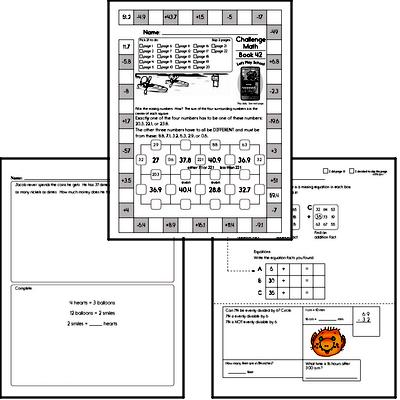 Weekly Math Worksheets for June 21