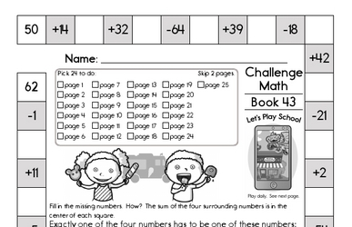 Weekly Math Worksheets for June 27
