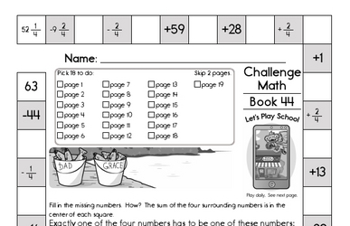 Weekly Math Worksheets for June 29