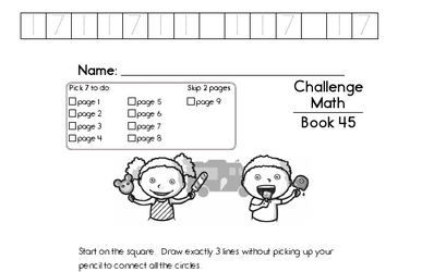 Weekly Math Worksheets for July 11